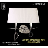 Mara Wall Lamp 2 Light Antique Brass/Cream