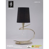 Mara Table Lamp 1 Light French Gold/Black
