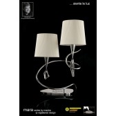 Mara Table Lamp 2 Light Polished Chrome/Cream