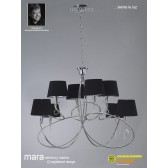Mara Pendant 8 Light Polished Chrome/Black