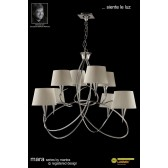Mara Pendant 8 Light Polished Chrome/Cream
