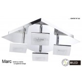 Marc 4 Light Ceiling LED 20W Chrome 3000K