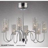 Diyas Martina 8 Light Pendant Chrome/Crystal