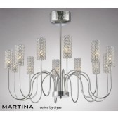 Diyas Martina 12 Light Pendant Chrome/Crystal