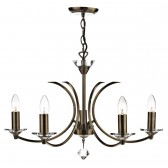 Medusa 5 Light Dual Mount Pendant - Antique Brass