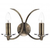 Medusa Double Wall Light - Antique Brass