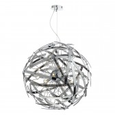 Dar Melba 12-Light Pendant Polished Chrome