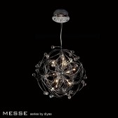 Diyas Messe Pendant 12 Light Polished Chrome/Crystal