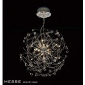 Diyas Messe Pendant 17 Light Polished Chrome/Crystal