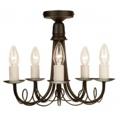 Elstead MN5 BLACK Minster 5 - Light Chandelier Black