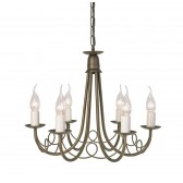 Elstead MN6 BLK/GOLD Minster 6 - Light Chandelier Black/Gold