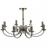 Murray Dual Mount Pendant Light - 8 Light, Antique Brass