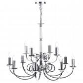 Murray Dual Mount Ceiling Pendant - 12 Light, Polished Chrome