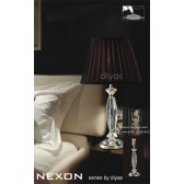 Diyas Nexon Table Lamp 1 Light Polished Chrome/Crystal