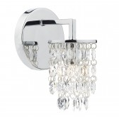 Dar Niagra 1-Light Wall Light Polished Chrome