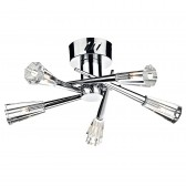 Nimrod Semi Flush Ceiling Light - 5 Light, Polished Chrome