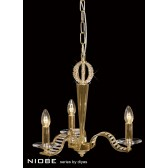 Diyas Niobe Pendant 3 Light Gold Plate
