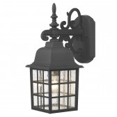 Norfolk Wall Lantern 'Down' - Black