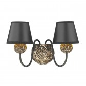 Novella 2 Light Wall Bracket Facetted Bronze