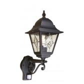 Elstead NR1 PIR BLACK Norfolk Up Wall Lantern with PIR