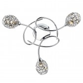 Numero Semi Flush Ceiling Light - 3 Light, Polished Chrome