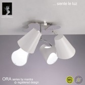 Ora Ceiling 4 Light Polished Chrome/White
