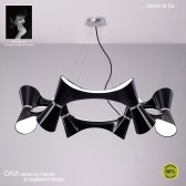 Ora Pendant 12 Light Polished Chrome/Black