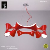 Ora Pendant 12 Light Polished Chrome/Red