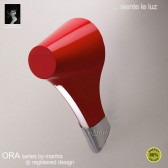 Ora Wall Lamp 1 Light Polished Chrome/Red
