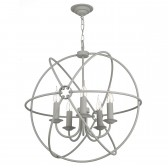 Orb 5 Light Pendant Ash Grey