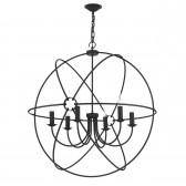 Orb 6 Light Pendant Black