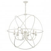 Orb 6 Light Pendant Cream