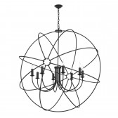 Orb 8 Light Pendant Black