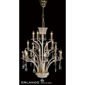 Diyas Orlando Pendant 12 Light Gold Plate