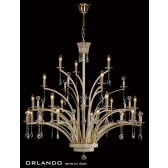 Diyas Orlando Pendant 21 Light Gold Plate
