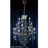 Diyas Orlando Pendant 12 Light Black Chrome