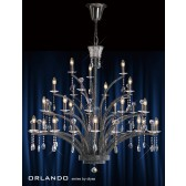 Diyas Orlando Pendant 21 Light Black Chrome
