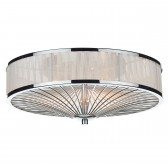 Oslo 3 Light Flush Polished Chrome/ White