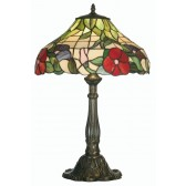 Peonies Tiffany Table Lamp - Large
