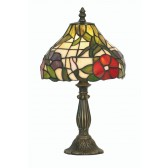 Peonies Tiffany Table Lamp - Small