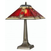 Aztec Tiffany Table Lamp - Large