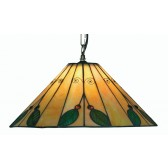 Leaf Tiffany Ceiling Light - Uplighter