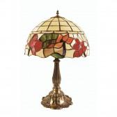 Oaks Lighting OT 4382/16 TL Border Tiffany Table Lamp