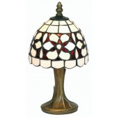 Tiffany Table Lamp - Amber Flower 6