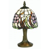 Tiffany Table Lamp - Blue Flower 6