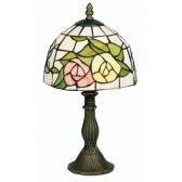 Tiffany Table Lamp - Pink and Yellow Flower 8