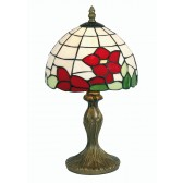 Tiffany Table Lamp - Red Flower 8