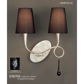 Paola Wall Lamp 2 Light Silver Leaf