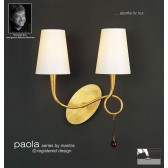 Paola Switched Wall Lamp 2 Light Gold Leaf