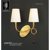 Paola Wall Lamp 2 Light Gold Leaf